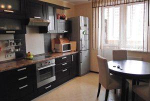 Прямая-расстановка-кухонного-гарнитура