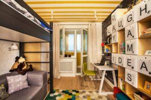 Дизайн интерьера детской комнаты для двоих детей