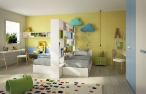 Дизайн интерьера детской комнаты для разнополых детей