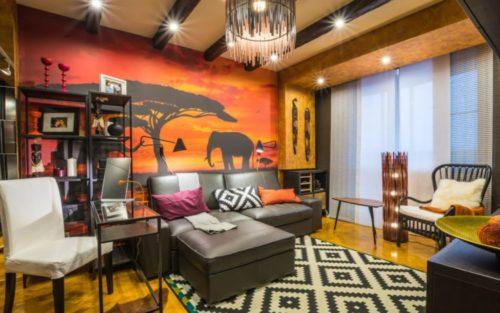Как оформить гостиную в африканском стиле