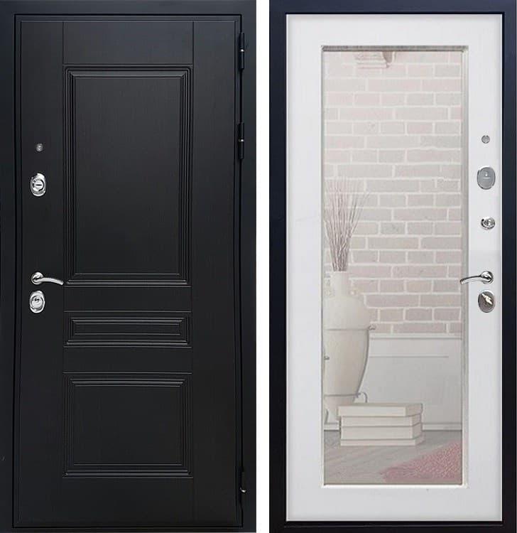 Входная дверь Армада Премиум Н с Зеркалом Пастораль (Венге / Белый ясень)