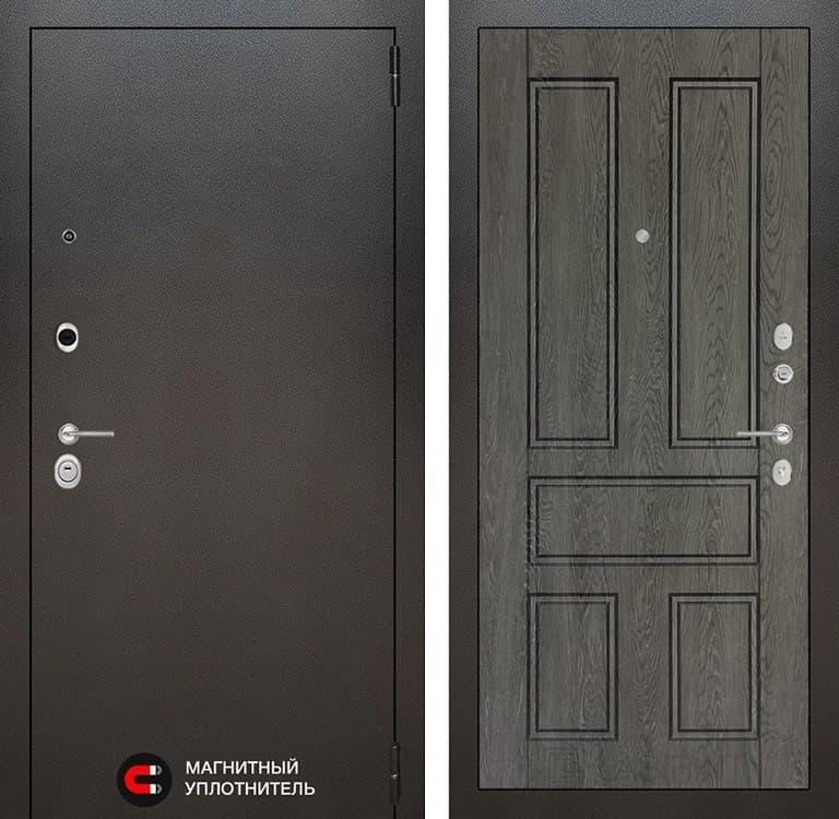 Входная дверь Лабиринт Сильвер 10 (Антик темное серебро / Дуб филадельфия графит)