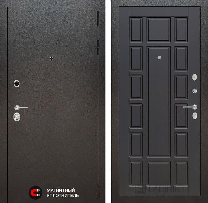 Входная дверь Лабиринт Сильвер 12 (Антик темное серебро / Венге)