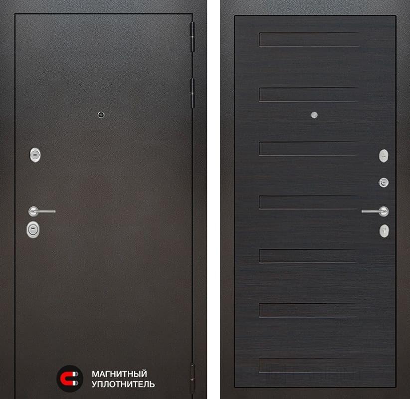 Входная дверь Лабиринт Сильвер 14 (Антик темное серебро / ЭкоВенге)