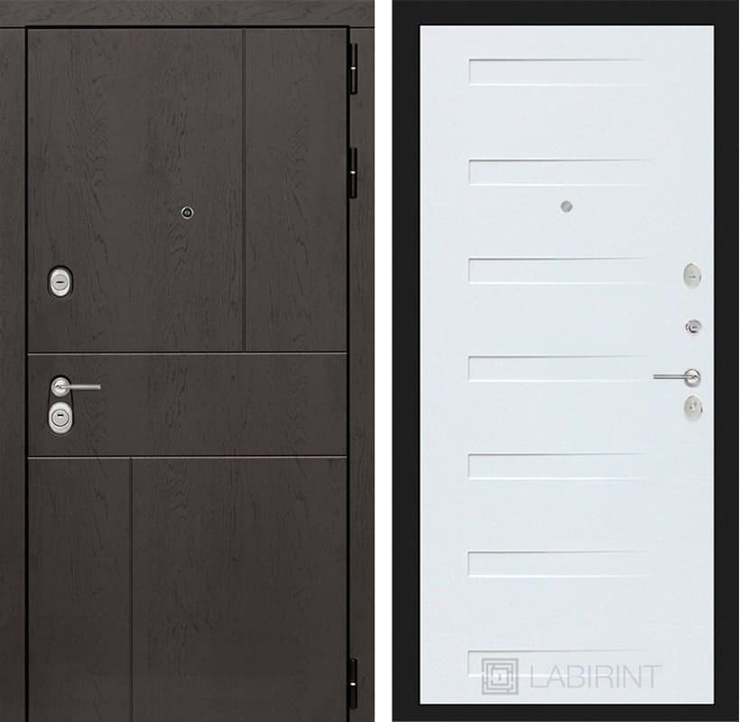 Входная дверь Лабиринт Урбан 14 (Дуб горький шоколад / Дуб кантри белый)