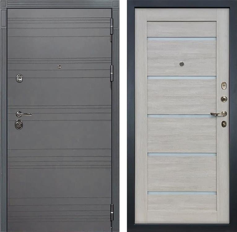 Входная дверь Лекс Сенатор 3К Софт графит Клеопатра-2 (№66 Ясень кремовый)