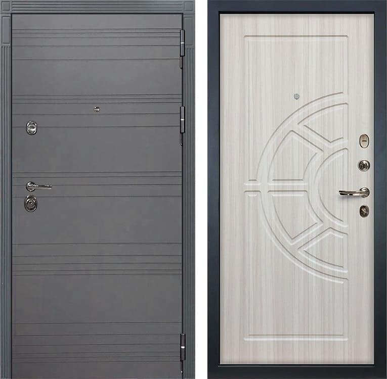 Входная дверь Лекс Сенатор 3К Софт графит (№44 Сандал белый)