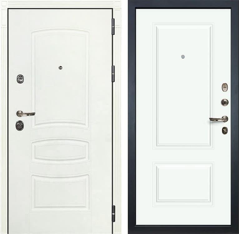 Входная дверь Лекс Сенатор 3К Шагрень белая Вероника-1 Шпон (№55 Эмаль Белая)