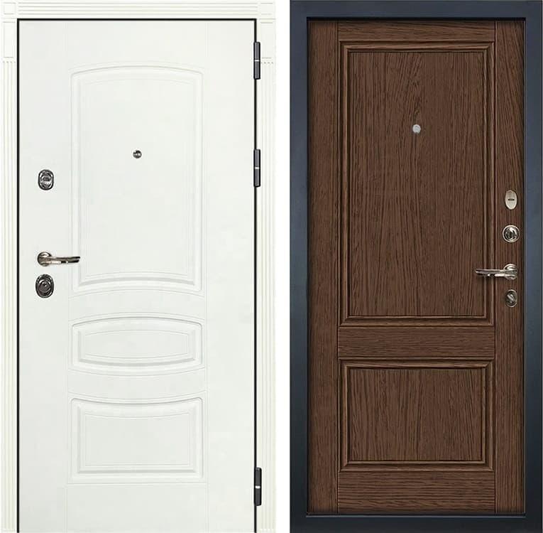 Входная дверь Лекс Сенатор 3К Шагрень белая Энигма-1 (№57 Орех)
