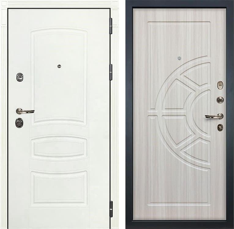Входная дверь Лекс Сенатор 3К Шагрень белая (№44 Сандал белый)