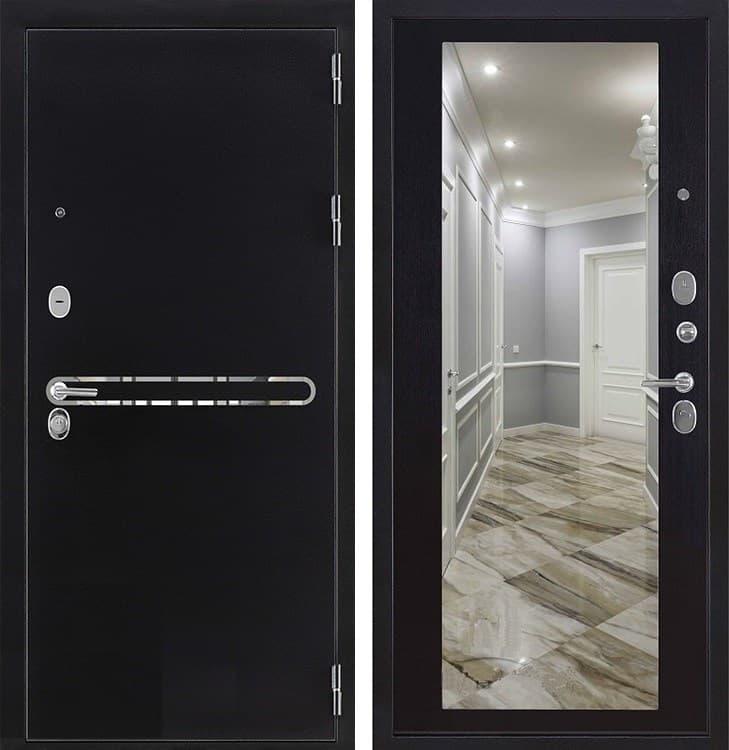 Входная дверь Регионов Президент S1Z с зеркалом (Антик графит / Венге)