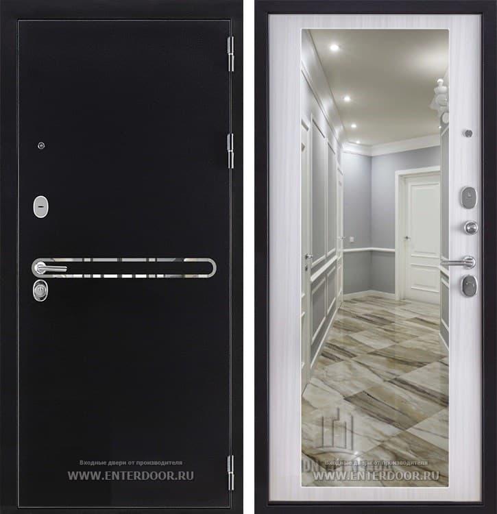 Входная дверь Регионов Президент S1Z с зеркалом (Сандал белый)