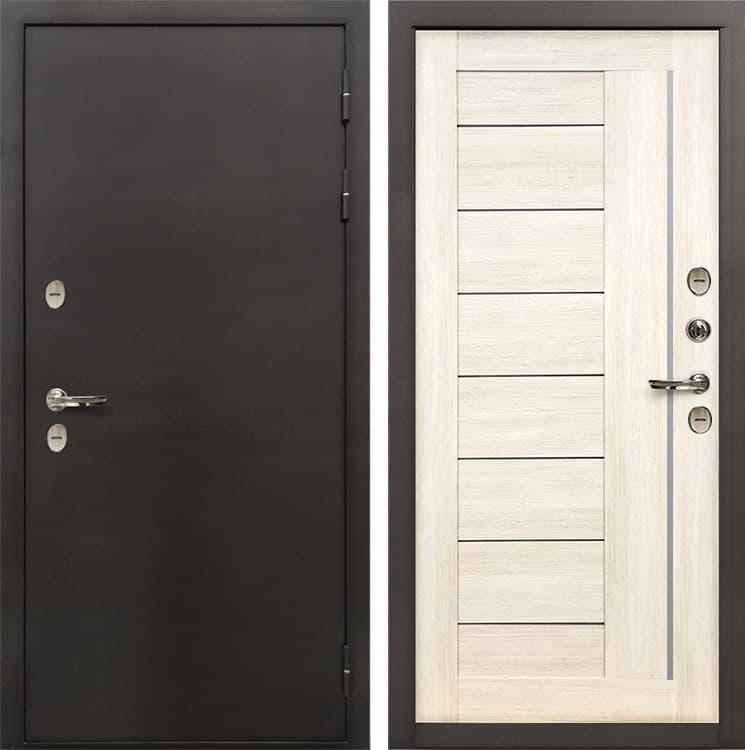 Входная дверь с терморазрывом Лекс Термо Сибирь 3К Верджиния Беленый дуб (панель №38)