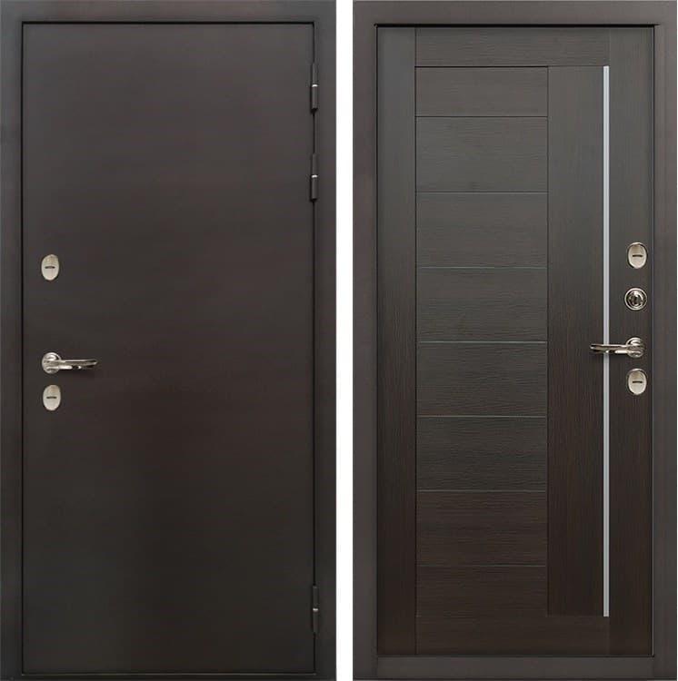 Входная дверь с терморазрывом Лекс Термо Сибирь 3К Верджиния Венге (панель №39)