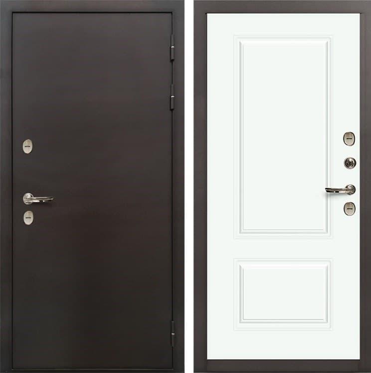 Входная дверь с терморазрывом Лекс Термо Сибирь 3К Вероника-1 Эмаль белая (панель №55)