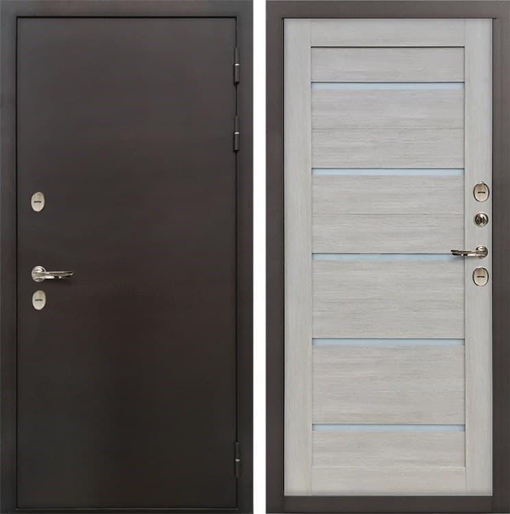 Входная дверь с терморазрывом Лекс Термо Сибирь 3К Клеопатра-2 Ясень кремовый (панель №66)