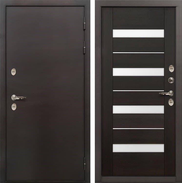 Входная дверь с терморазрывом Лекс Термо Сибирь 3К Сицилио Венге (панель №51)