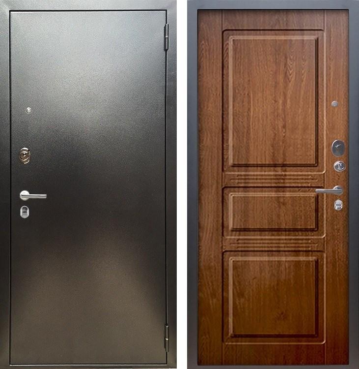 Входная металлическая дверь Аргус Люкс ПРО Сабина (Серебро антик / Золотой дуб)