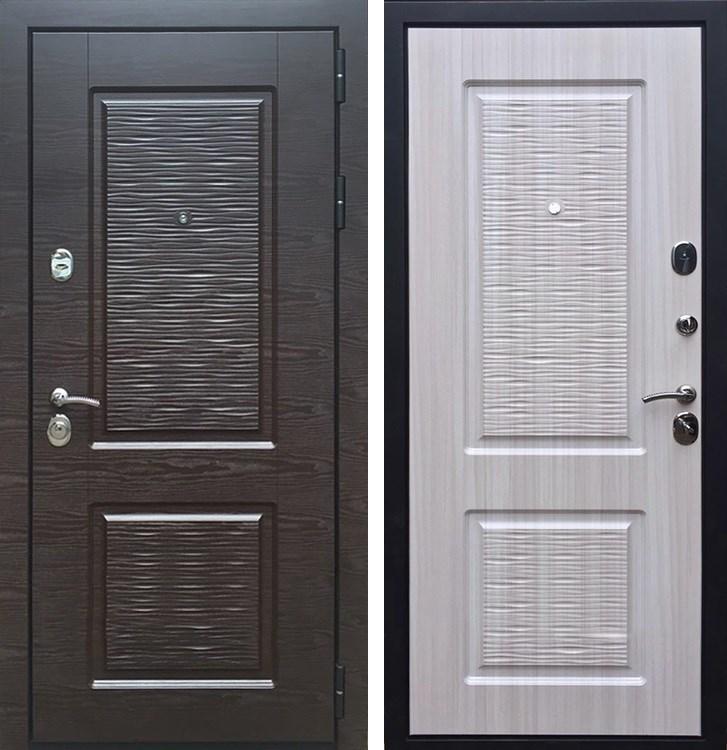 Входная металлическая дверь Армада Лайн-2 (Венге поперечный / Сандал белый)