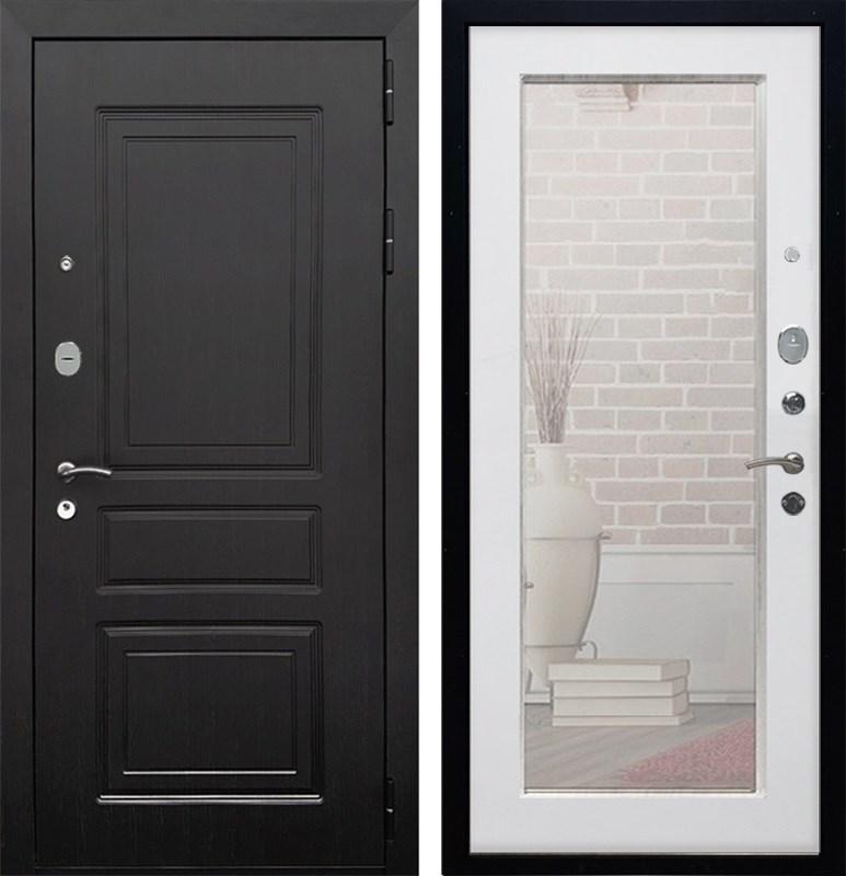 Входная металлическая дверь Армада Лондон с Зеркалом Пастораль (Венге / Белый ясень)