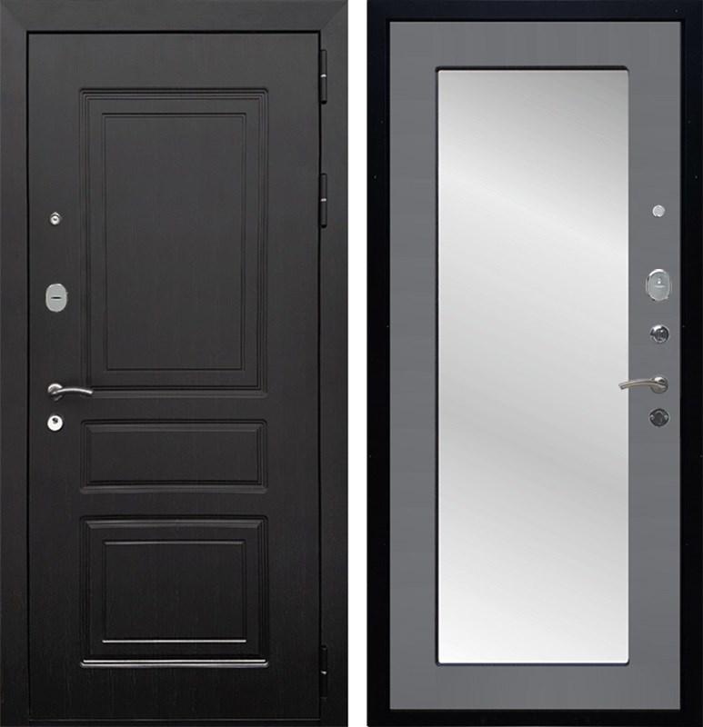 Входная металлическая дверь Армада Лондон с Зеркалом Пастораль (Венге / Графит софт)