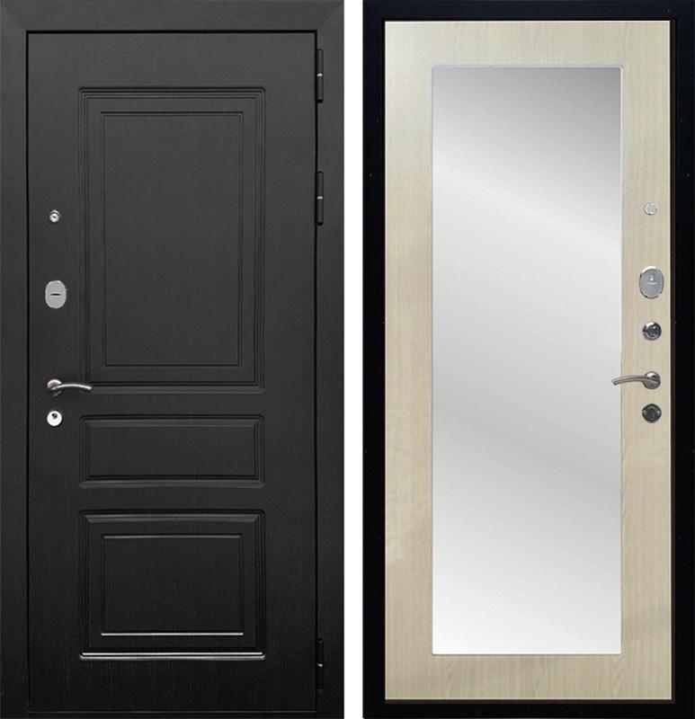 Входная металлическая дверь Армада Лондон с Зеркалом Пастораль (Венге / Дуб белёный)