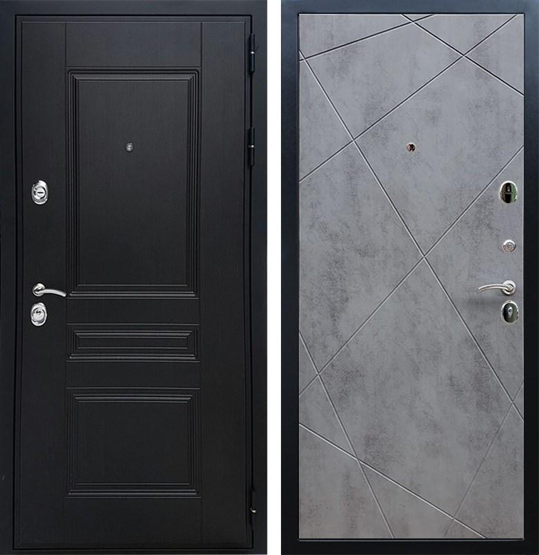 Входная металлическая дверь Армада Премиум Н Лучи (Венге / Бетон тёмный)