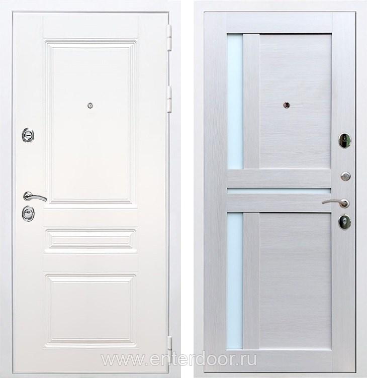 Входная металлическая дверь Армада Премиум Н СБ-18 (Белый / Лиственница беж)