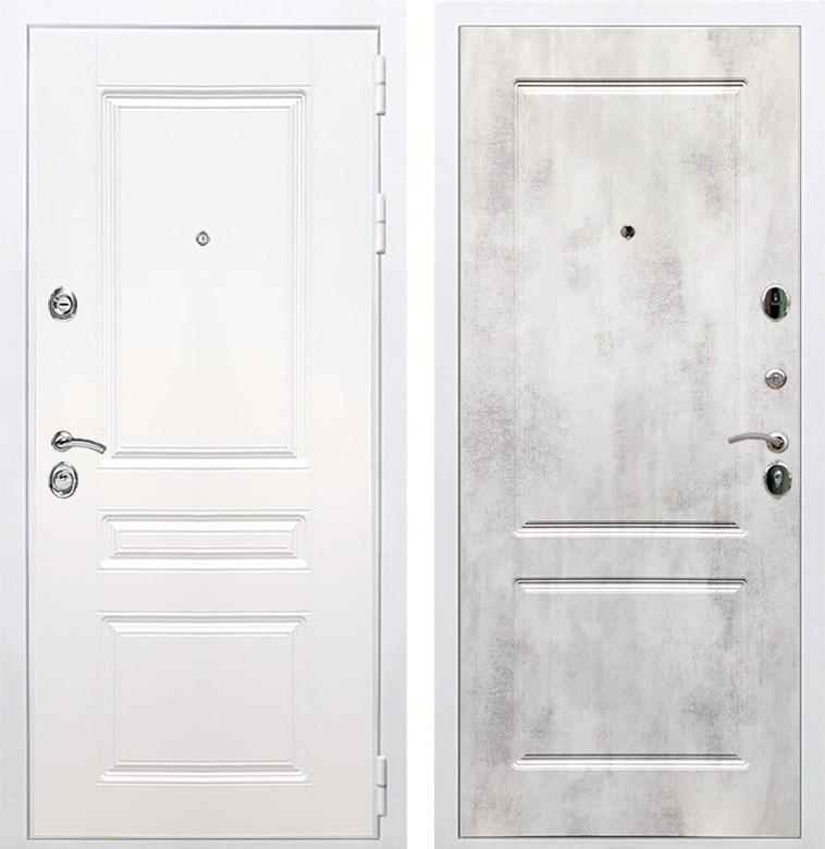 Входная металлическая дверь Армада Премиум Н ФЛ-117 (Белый / Бетон светлый)