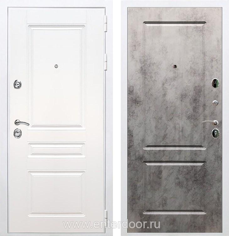 Входная металлическая дверь Армада Премиум Н ФЛ-117 (Белый / Бетон тёмный)