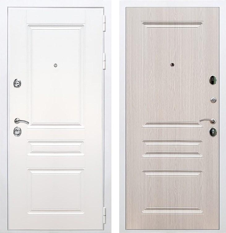 Входная металлическая дверь Армада Премиум Н ФЛ-243 (Белый / Дуб беленый)