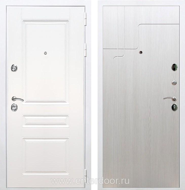 Входная металлическая дверь Армада Премиум Н ФЛ-246 (Белый / Лиственница беж)
