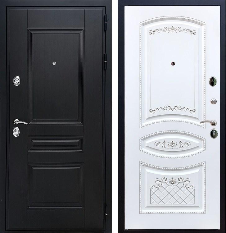 Входная металлическая дверь Армада Премиум Н ФЛ-316 (Венге / Белый патина Серебро)