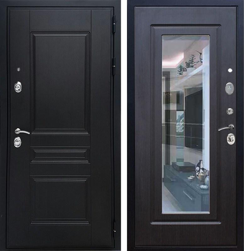 Входная металлическая дверь Армада Премиум Н с Зеркалом (Венге / Венге)