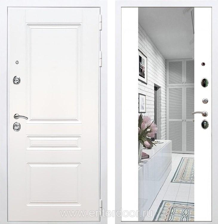 Входная металлическая дверь Армада Премиум Н с Зеркалом СБ-16 (Белый / Белый матовый)