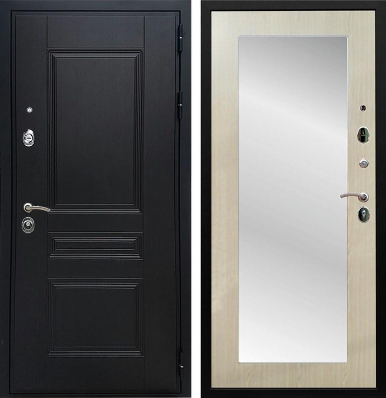 Входная металлическая дверь Армада Премиум Н с зеркалом Пастораль (Венге / Дуб белёный)