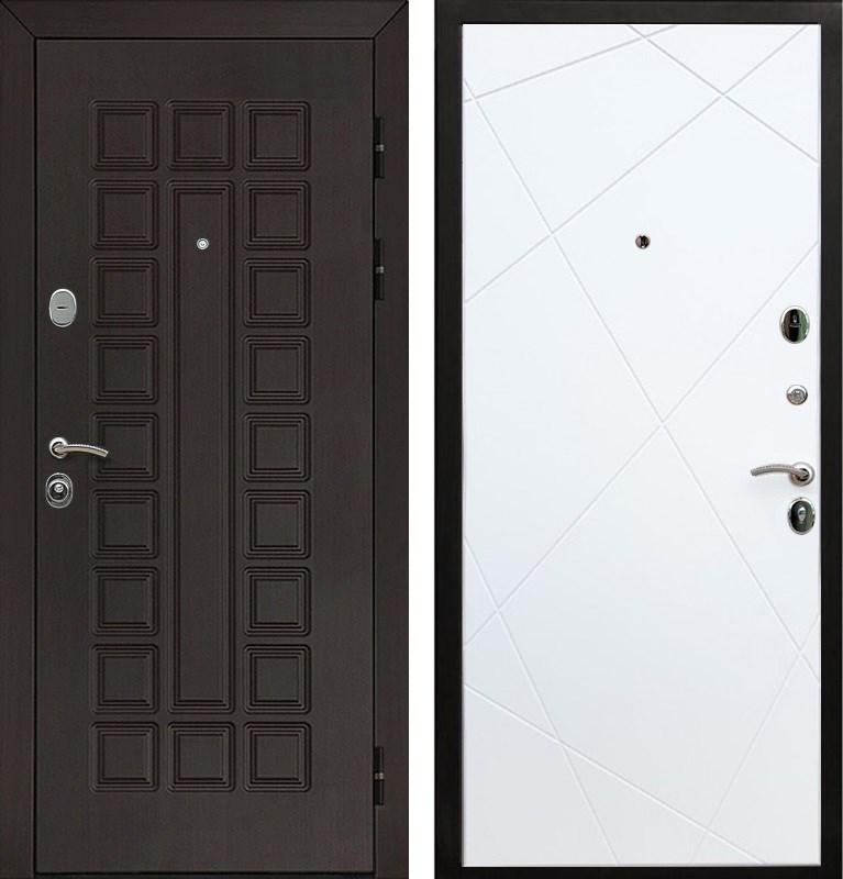 Входная металлическая дверь Армада Сенатор Лучи (Венге / Белый софт)