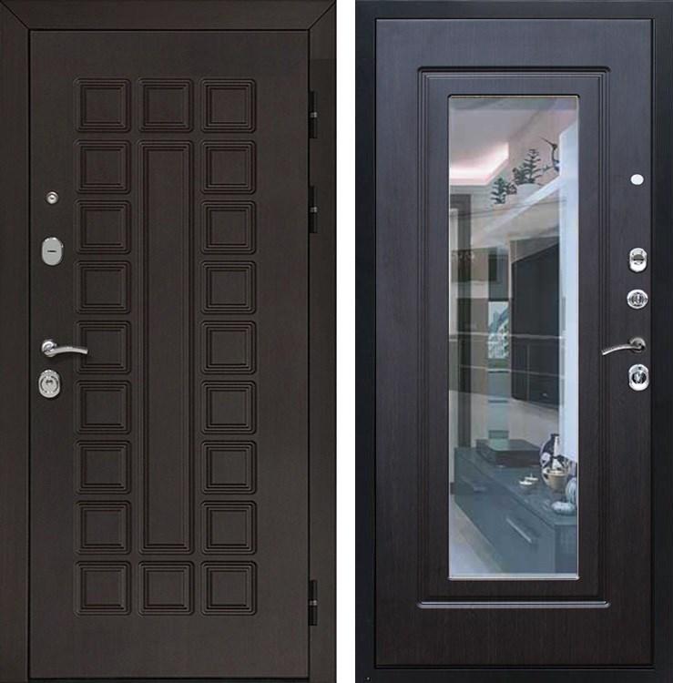 Входная металлическая дверь Армада Сенатор 3К с Зеркалом (Венге / Венге)