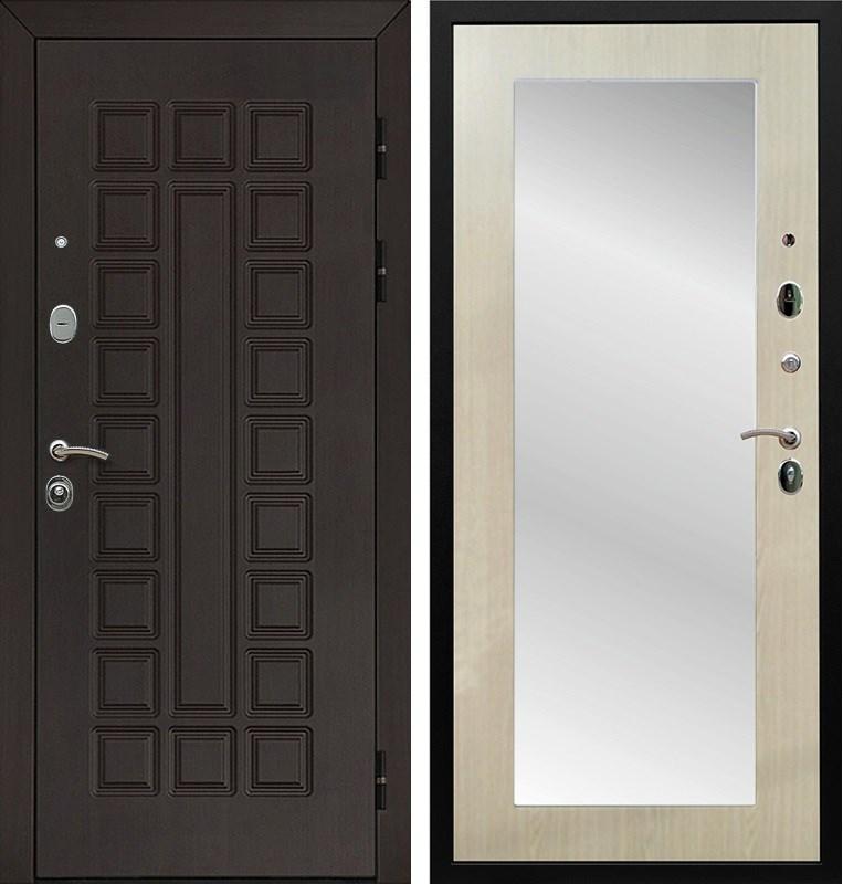 Входная металлическая дверь Армада Сенатор 3К с Зеркалом Пастораль (Венге / Дуб белёный)
