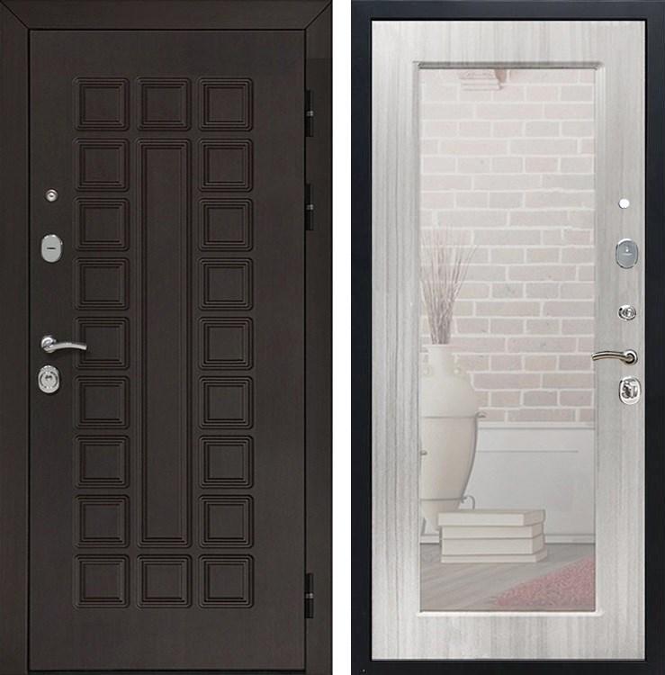 Входная металлическая дверь Армада Сенатор 3К с Зеркалом Пастораль (Венге / Сандал белый)