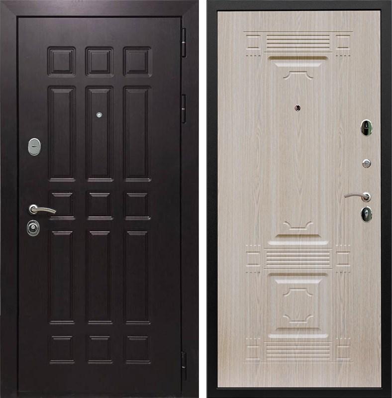 Входная металлическая дверь Армада Сенатор 8 ФЛ-2 (Венге / Дуб беленый)