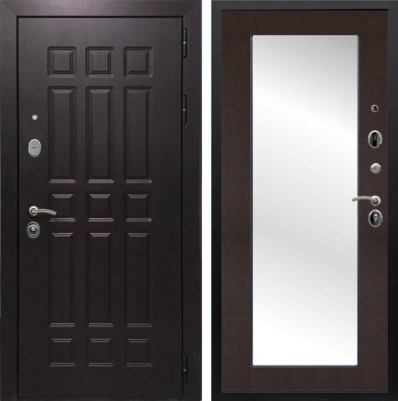 Входная металлическая дверь Армада Сенатор 8 с Зеркалом Пастораль (Венге / Венге)