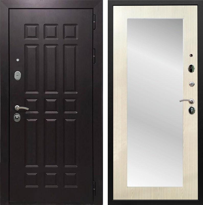 Входная металлическая дверь Армада Сенатор 8 с Зеркалом Пастораль (Венге / Лиственница беж)
