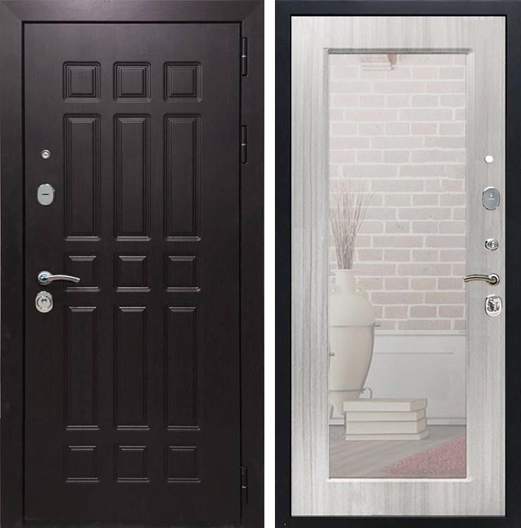 Входная металлическая дверь Армада Сенатор 8 с Зеркалом Пастораль (Венге / Сандал белый)
