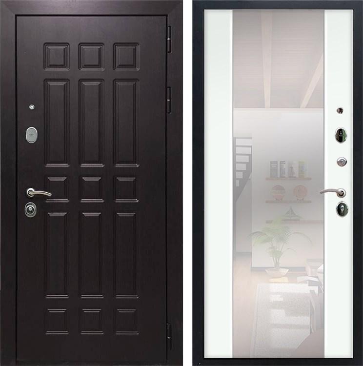 Входная металлическая дверь Армада Сенатор 8 с Зеркалом СБ-16 (Венге / Ясень белый)