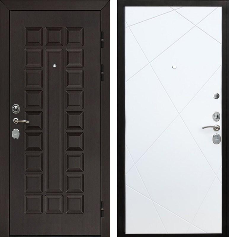 Входная металлическая дверь Армада Сенатор Cisa Лучи (Венге / Белый софт)