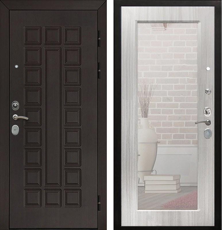 Входная металлическая дверь Армада Сенатор Cisa с Зеркалом Пастораль (Венге / Сандал белый)