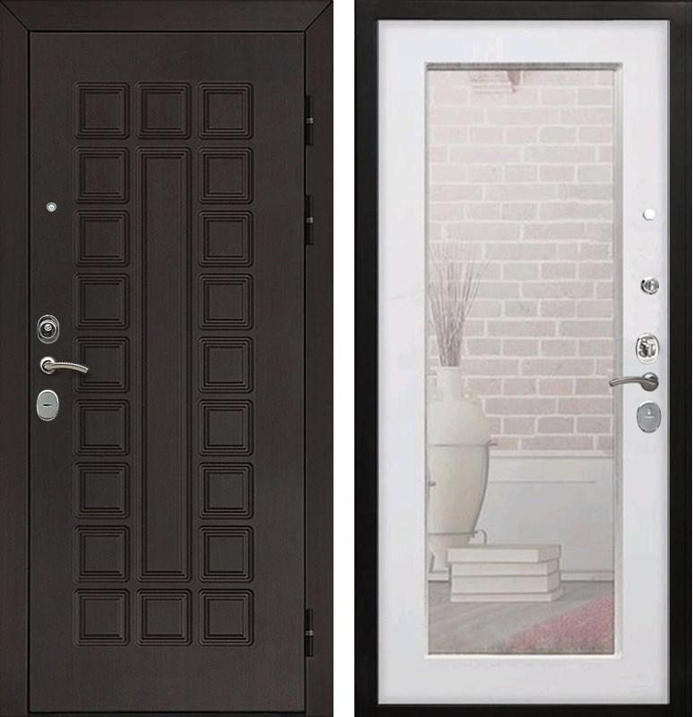 Входная металлическая дверь Армада Сенатор Cisa с Зеркалом Пастораль (Венге / Ясень белый)