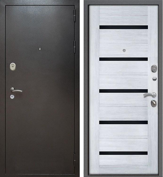 Входная металлическая дверь Армада Титан (Антик серебро / Сандал белый)