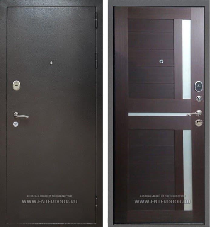 Входная металлическая дверь Армада Титан СБ-18 (Антик Серебро / Орех темный)